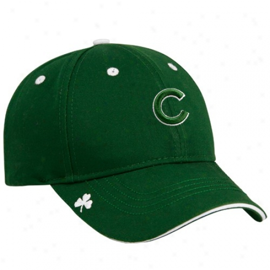 Chicago Cubs Caps : New Point of time Chicago Cubs Kelly Green Hooley St. Patrick's Day Adjustable Caps