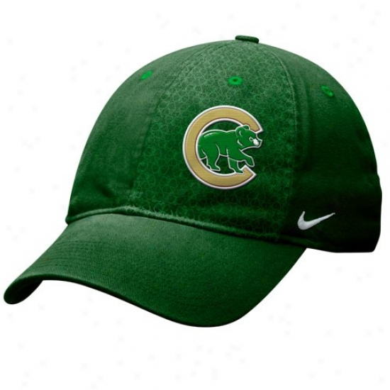 Chicago Cubs Caps : Nike Chicago Cubs Kelly Green St Paddy's Campus Adjustable Caps