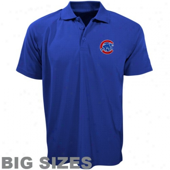 Chicago Cubs Clothes: Majestic Chicago Cubs Royal Blue Pebbles Big Sizes Polo