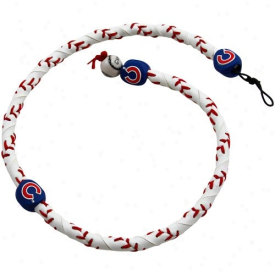 Chicago Cubs Frozen Rope Baseball Necklace