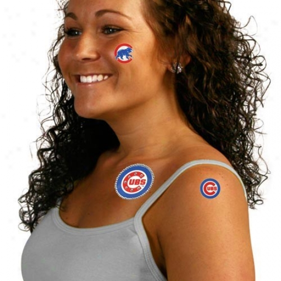 Chicago Cubs Gameday Rhinestone Body Art Stickers
