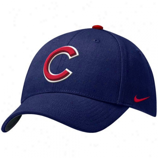 Chicago Cubs Gear: Nike Chicago Cubs Rpyal Blue Wool Classic Adjustable Hat