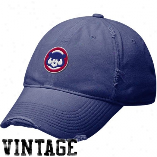 Chicago Cubs Appointments: Nike Chicago Cubs Royal Blue Cooperstown Relaxed Vinfage Adjustable Slouch Hat