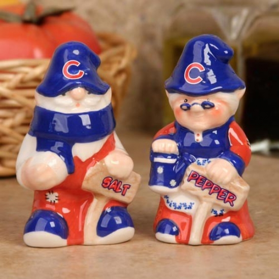 Chicafo Cubs Gnome Salt & Pepper Shakers
