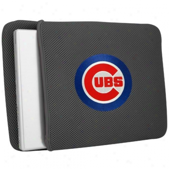 Chicago Cubs Gray Mesh Laptop Guardian