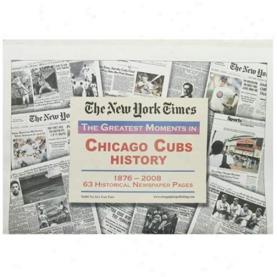 Chicago Cubs Greatest Moments Newspaper