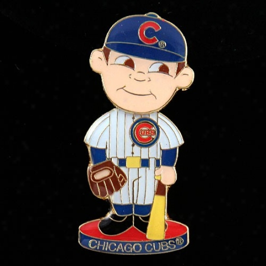 Chicago Cubs Hat : Chicago Cubs Bobble Head Baseball Player Pin