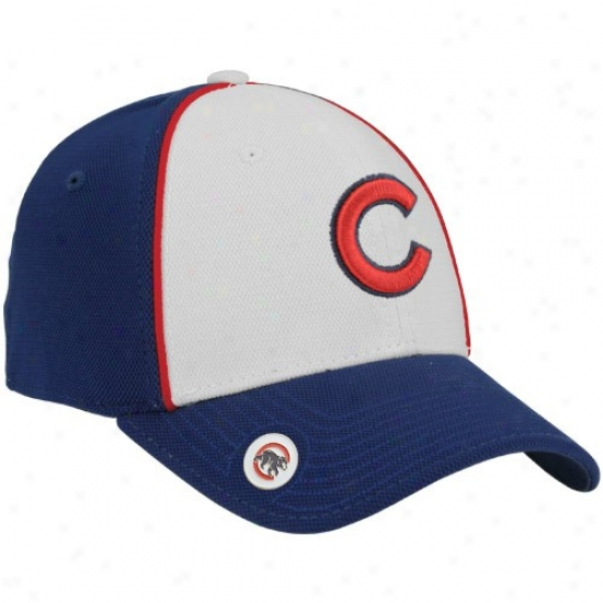 Chicago Cubs Hats : New Era Chicago Cubs Royal Blue Fore Ball Marker Flex Fit Hats