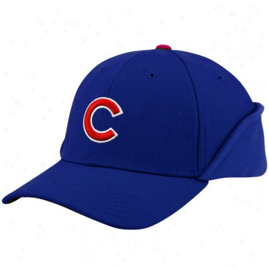Chicago Cubs Hats : New Era Chicago Cubs Royal Blue 39thirty Down Flap Authentic On-field Stretch Fit Hats