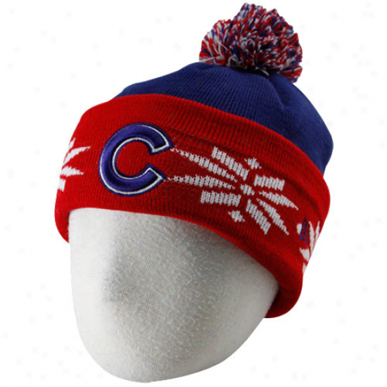 Chicago Cubs Hats : New Era Chicago Cubs Toddler Royal Bleu-red Snow Kid Beanie