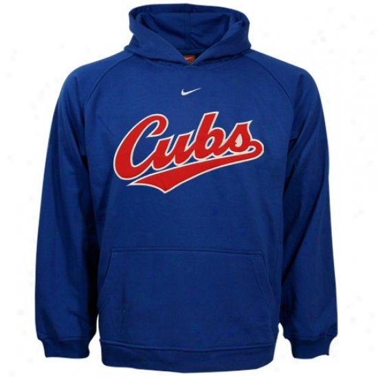 Chicago Cubs Hoodie : Nike Chicago Cubs Youth Royal Blue Tackle Twill Hoodie