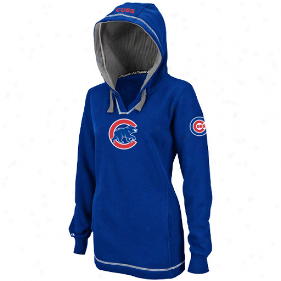 Chicago Cubs Hoody : MajesticC hicago Cubs Ladkes Royal Blue The Liberation Pullover Hoody