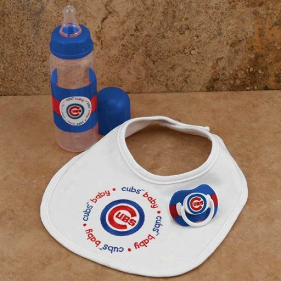 Chicago Cubs Infant Three-picce Gift Set