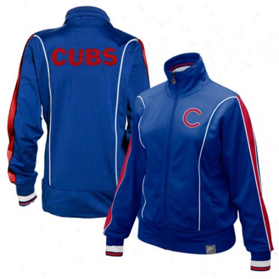 Chicago Cube Jackets : Nike Chicago Cubs Ladies Royal Blue Amiable Full Zip Jackets