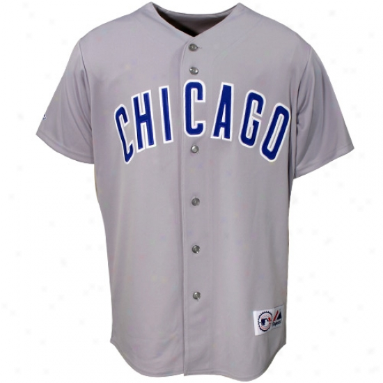 Chicago Cubs Jersey : Majestic Chicago Cubs Grey Replica Jersey