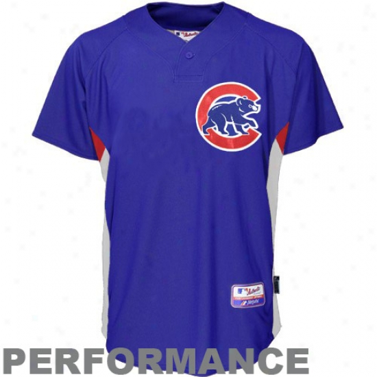 Chicago Cubs Jerseys : Majestic Chicago Cubs Royal Bllue Batting Use Baseball Jerseys