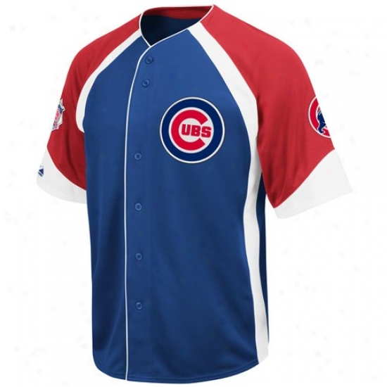 Chicago Cubs Jerseys : Majestic Chicago Cubs Youth Royal Blue-red Wheelhouse Baseball Jerseys