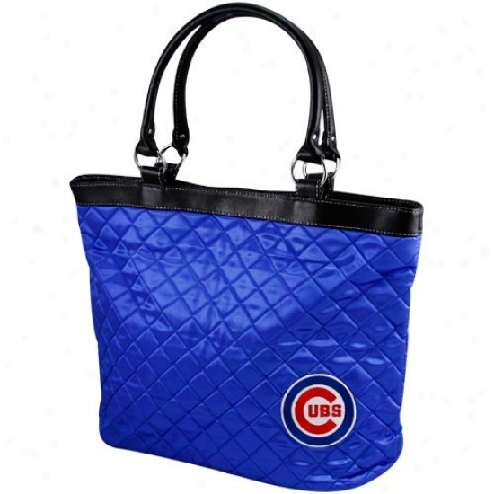 Chicago Cubs Ladies Royal Bpue Quilted Toote Bag