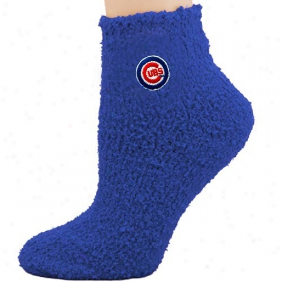 Chicago Cubs Ladies Royal Blu eSleepsoft Ankle Socks