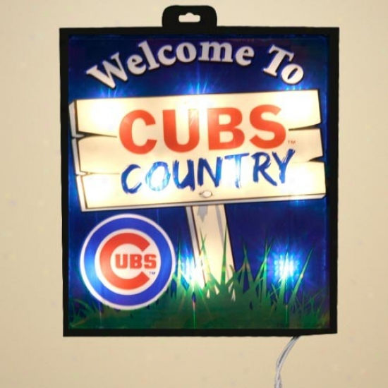 Chicago Cubs Light Up Wall/window Token