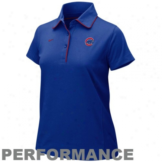 Chicago Cubs Polos : Nike Chicago Cubs Ladies Royal Blue Fan Performance Polos