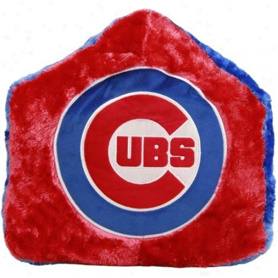 Chicago Cubs Red 16-inch Tean Logo Home Plate Plush Pillow