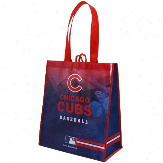 Chicago Cubs Red-royal Blue Fade Reusable Tote Bag