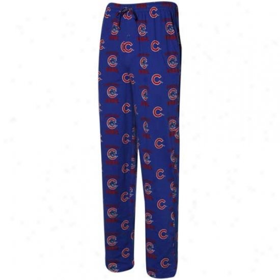 Chicago Cubs Royal Blue Maverick Pajama Pants