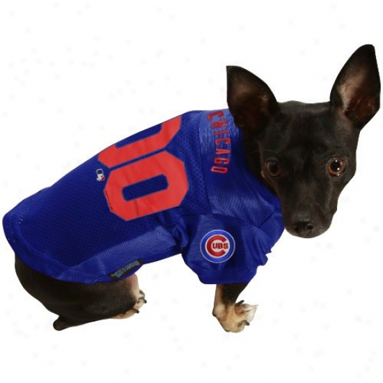 Chicago Cubs Royal Blue Pet Jersey