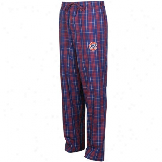Chicago Cubs Royal Blue Plaid Event Pajama Pants