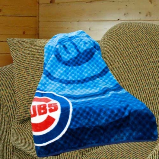 Chicago Cubs Royal Blue Retro Royal Plush Blanket Throw