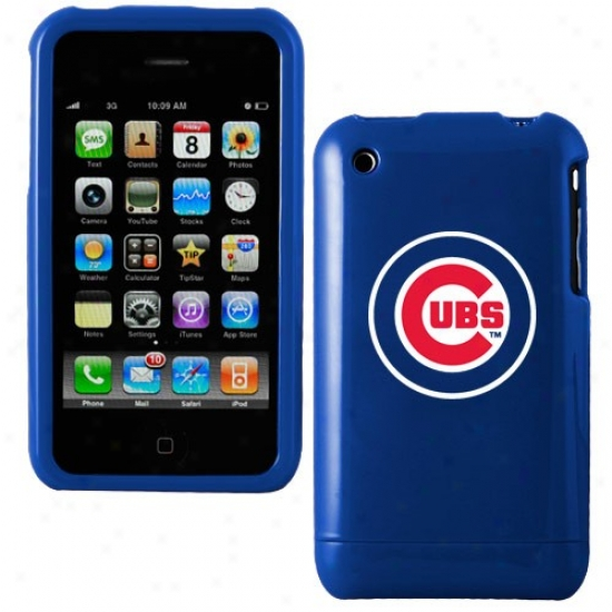 Chicago Cubs Royal Blue Team Logo Iphone Case