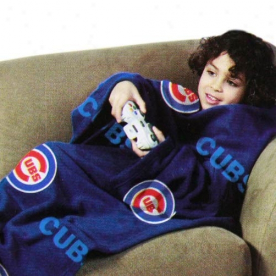 Chicago Cubs Magnificent Blue Team Logo Print Unisex Comfy Throw