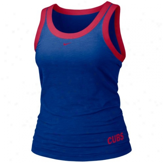 Chicago Cubs Shirt : Nike Chicago Cubs Ladies Kingly Blue Mlb Tank Top