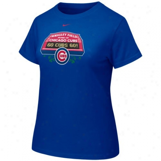 Chicago Cubs Shirts : Nike Chicago Cubs Royal Blue Ladies Scoreboard Shirts