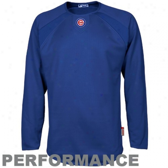 Chicago Cubs Sweat Shirt : Majestic Chicago Cubs Royal Blue Therma Base Tech Performance Sweat Shirt