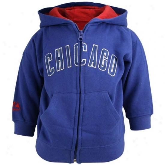 Chicago Cus Sweatshirt : Majestic Chkcago Cubs Royal Blue Toddler Full Zip Sweatshirt