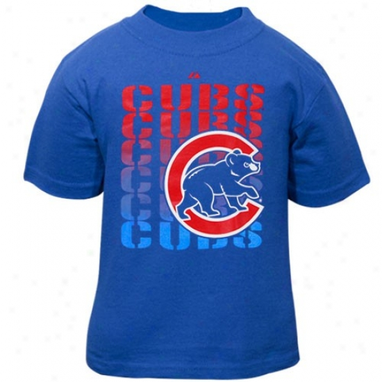 Chicago Cubs T-shirt : Elevated Chicago Cubs Toddler Royal Dismal Gamble Open T-shitt
