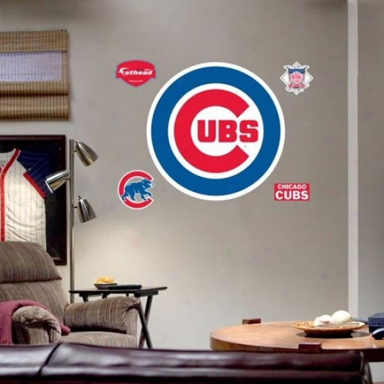 Chicago Cubs Team Logo Fathead Wall Sticker
