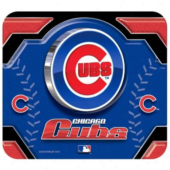 Chicqgo Cubs Team Logo Neoprene Mousepad