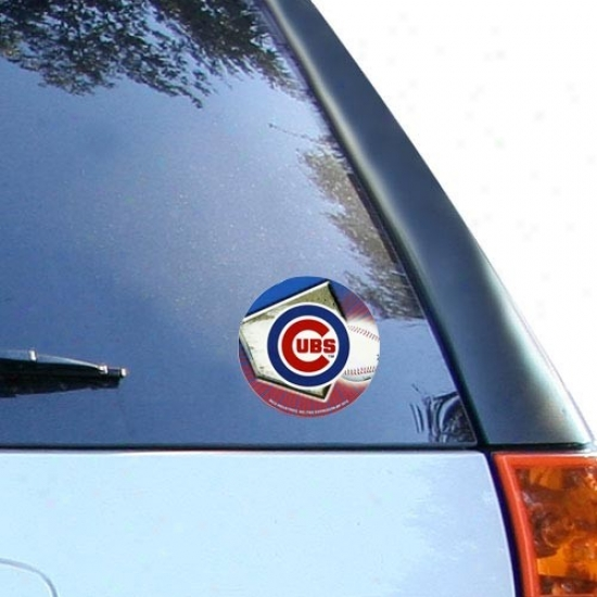 Chicago Cubs Team Logo Plump Vinyl Decal