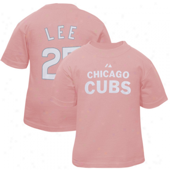Chicago Cubs Tee : Majestic Chicago Cubs #25 Clifton Lee Toddler Girls Pink Player Tee