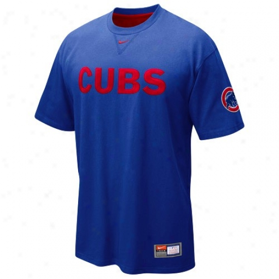 Chicago Cubs Tshirt : Nike Chicago Cubs Royal Blue Wordmark Tshirt