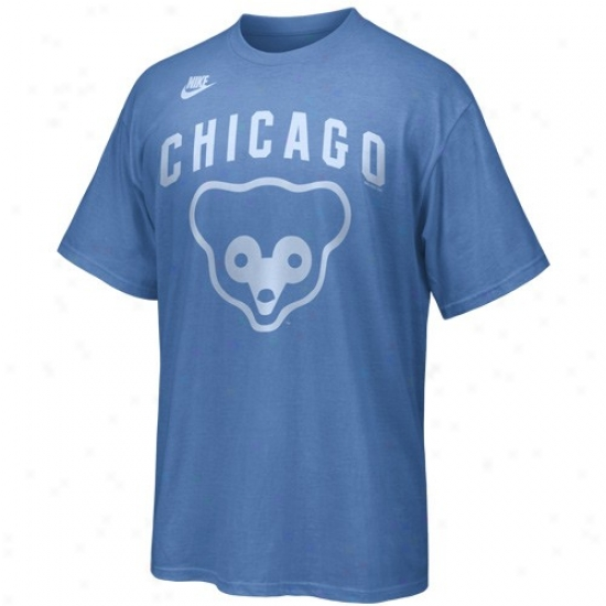 Chicago Cubs Tshirts : Nike Chicago Cubs Imperial Blue Cooperstown Discharged Tshirts