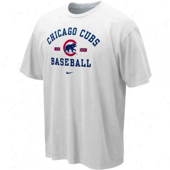 Chicago Cubs Tshirts : Nike Chicago Cbus Pale Safety Squeeze Tshirts