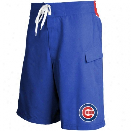 Chicago Cubs Youth Royal Blue Team Logo Boardshorts