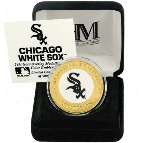 Chicago White Sox 24kt Gold And Team Color Mint Coin