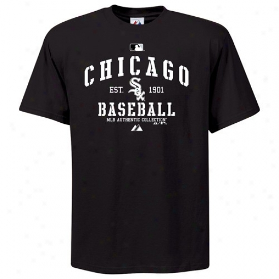 Chicago White Sox Apparel: Majeztic Chicago Pale Sox Youth Black Ac Classic T-shirt