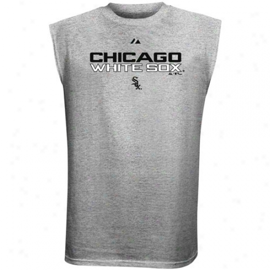 Chicago White Sox Attire: Majestic Chicago White Sox Ash Series Sweep Sleeveless T-shirt