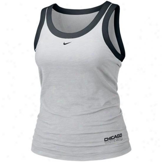 Chicago White Sox Attire: Nike Chicago White Sox Ladies Ash Mlb Tank Top